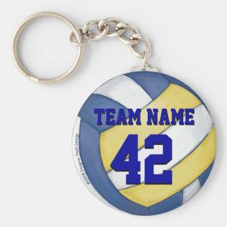 Volleyball-Team-Name und Zahl Standard Runder Schlüsselanhänger