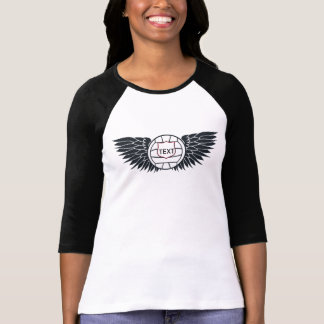 Volleyball Wings Raglan-T - Shirt