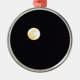 Vollmond Rundes Silberfarbenes Ornament