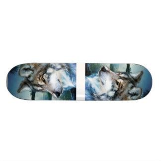 Vollmondwolf des Waldwaldmondscheins 19,7 Cm Skateboard Deck