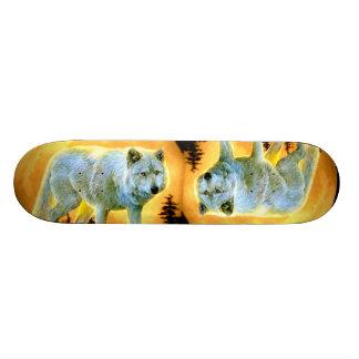 Vollmondwolf des Waldwaldmondscheins 21,6 Cm Skateboard Deck
