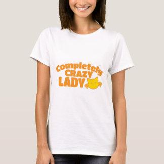 Vollständig verrückte CAT Dame T-Shirt