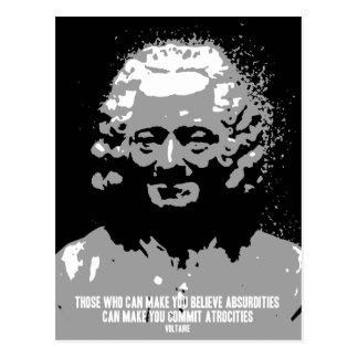 Voltaire - Absurditäten Postkarte