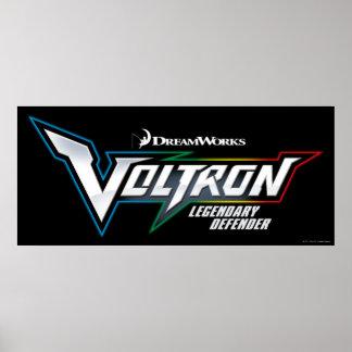 Voltron | legendäres Verteidiger-Logo Poster
