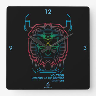 Voltron | Versuchsfarbsteigungs-Kopf-Kontur Quadratische Wanduhr