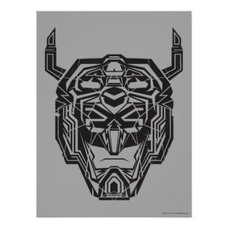 Voltron | Voltron Kopf zerbrochene Kontur Poster