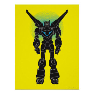 Voltron | Voltron schwarze Silhouette Poster