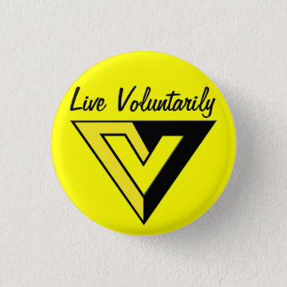 Voluntaryist Knopf Runder Button 2,5 Cm