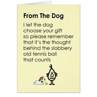 Vom Hund - ein lustiges alles Gute zum Karte