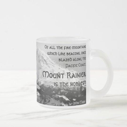 Von allen Feuerbergen… Der Mount Rainier Matte Glastasse