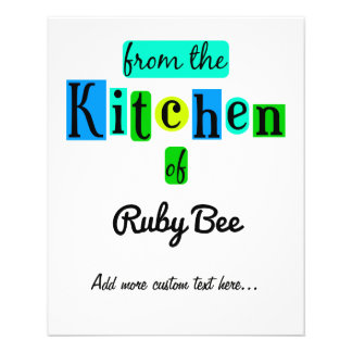 Von der Küche des Retro kundenspezifischen Flyer
