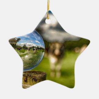 Von Gras zu Glas Keramik Ornament