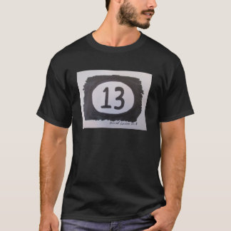 Von Hand gezeichnete Nr. dreizehn T-Shirt
