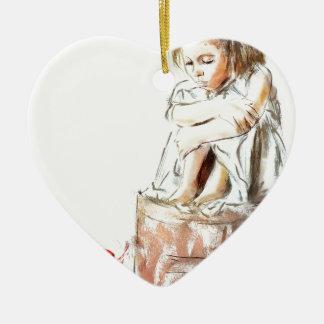 von meinem Geist gehöre ich Keramik Herz-Ornament