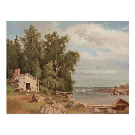 Von Wrights Lehtisaari Postkarte