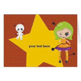 Voodoopuppe - wählen Sie Hintergrundfarbe Karte