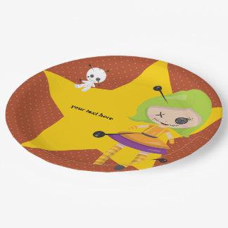 Voodoopuppe - wählen Sie Hintergrundfarbe Pappteller