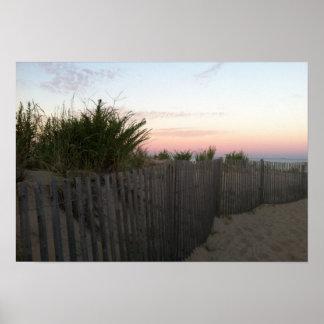 Vor Sonnenaufgang Rehoboth Strand Poster