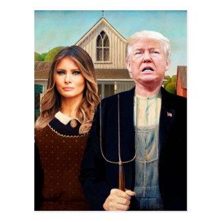 Voradressierte Postkarte zu Trumpf-amerikanischem