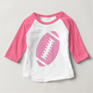 Vordere rosa Fußball-Grafik FUSSBALL-BABY Rosa-| Baby T-shirt