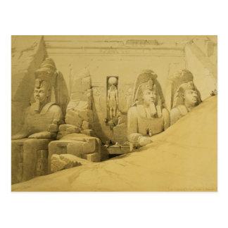 Vorderer Aufzug des großen Tempels von Aboo Simbel Postkarte