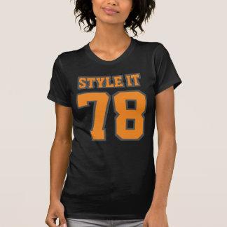 Vorderer SCHWARZER ORANGE amerikanischer T-Shirt