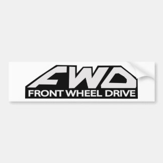 Vorderes Rad-Antrieb FWD Autoaufkleber