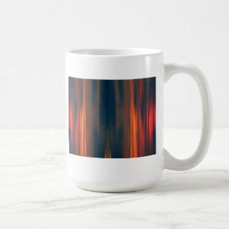 Vorhänge des Lichtes: Abstrakte Grafik: Kaffeetasse