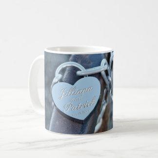 Vorhängeschloss-Liebhaber-Silber fachkundiger Kaffeetasse