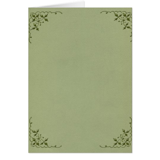 Vorlagenen-elegante Grenze Grußkarte