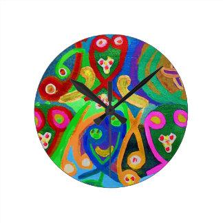 Vorlagenstück 55 Art101 dekorativ Runde Wanduhr