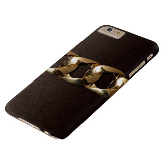 Vornehmes Gold umgeschnallter IPhone 6 Pluskasten Barely There iPhone 6 Plus Hülle
