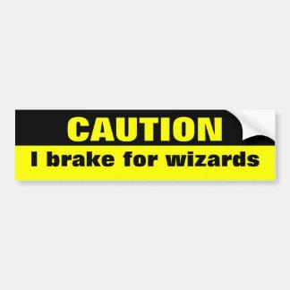 Vorsicht, bremse ich für Zauberer Autoaufkleber