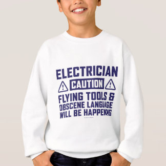 Vorsicht-Elektriker-Fliegen-Werkzeuge Sweatshirt
