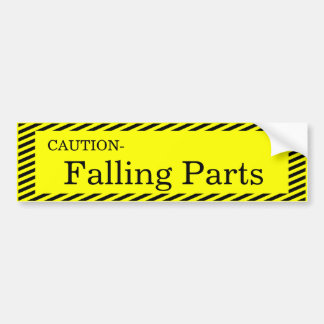 Vorsicht-Fallende Teile Autoaufkleber
