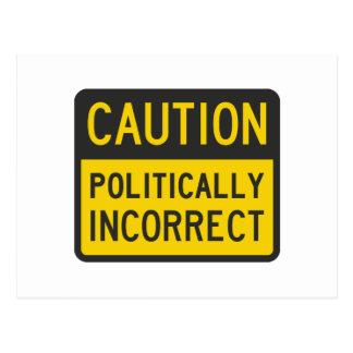 Vorsicht politisch falsch postkarte