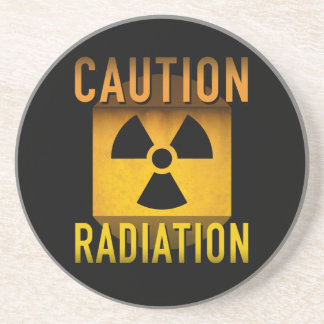 Vorsicht-Strahlungs-Symbol-Retro Getränkeuntersetzer