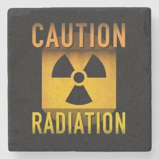 Vorsicht-Strahlungs-Symbol-Retro Steinuntersetzer