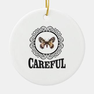 vorsichtiger Schmetterling Keramik Ornament