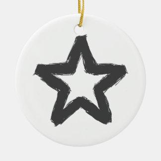 Vorsichtstern voran! keramik ornament