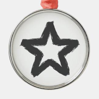 Vorsichtstern voran! silbernes ornament