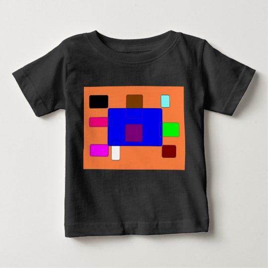 Vorsprung - bunte abstrakte Kunst auf orange Baby T-shirt