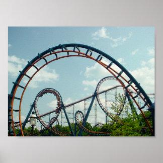 Vortex, montagnes russes, KingsIsland, parc d'attr Affiche