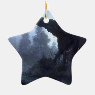 Vorübergehende Sicherheit Keramik Stern-Ornament