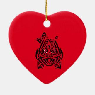 Vorzüglich spielerische Stammes- Tätowierungen Keramik Herz-Ornament