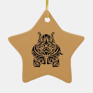 Vorzüglich spielerische Stammes- Tätowierungen Keramik Ornament