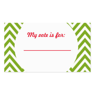 Vote de vote de fête de Noël laide de chandail Carte De Visite Standard
