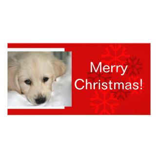 Votre carte de Noël de flocon de neige de photo de Photocartes