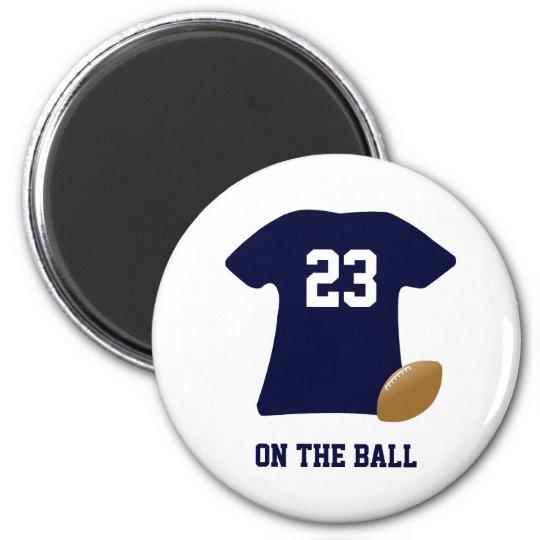 Votre chemise du football avec la boule magnet rond 8 cm