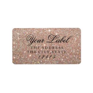 Votre étiquette fait sur commande - or rose Glit
